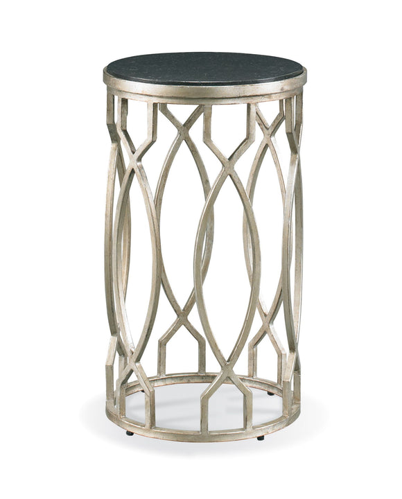 Twisted metal accent table