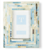 Mother Of Pearl Frame with Blue Accents