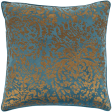 Metallic & Gold, and Bright Blue Pillow