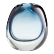 Blue and clear Vase