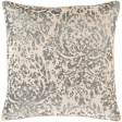Velvet Knife Edge Pillow in Cream, Metallic Silver, Back in Khaki