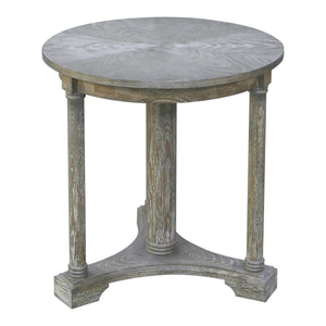 Weathered gray oak side table