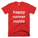 """Happy Runner Inside"" short sleeve men's t-shirt"