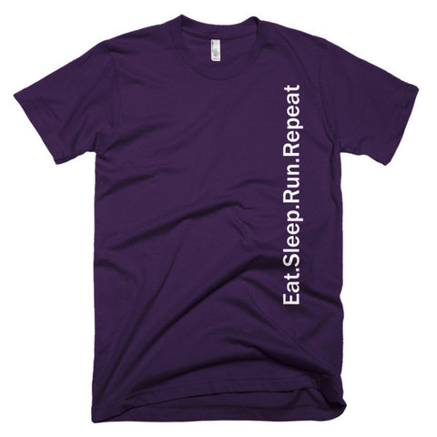 """Eat. Sleep. Run. Repeat"" Short sleeve men's t-shirt"
