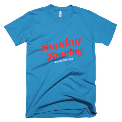 """Sunday Runday"" Short sleeve men's t-shirt"