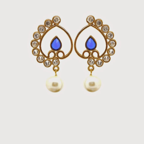 Beautiful Artificial Jewellery Earrings For Women's In Yellow, Blue & White Color