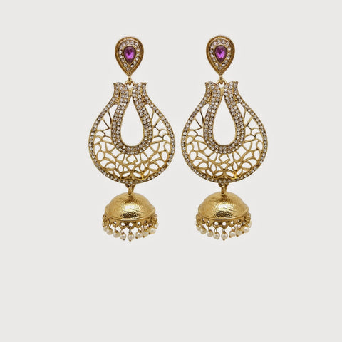 Perfect look Yellow, White & Lavender Artificial Jewellery Earrings