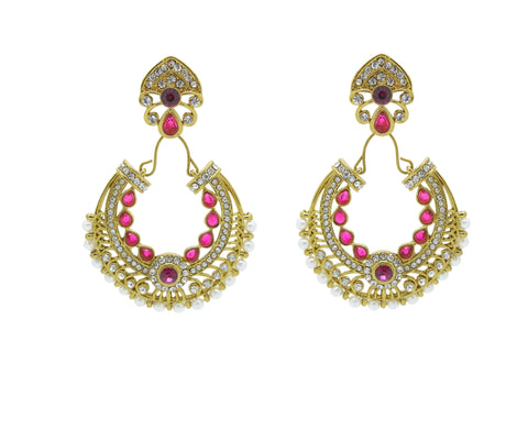Perfect look Yellow, Pink & White Artificial Jewellery Earrings