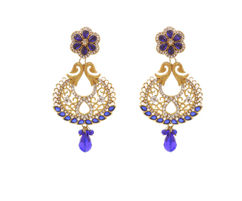 New Look Yellow, Blue & White Artificial Jewellery Earrings For Women's