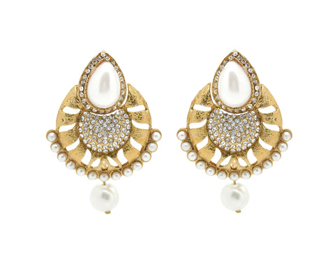 Perfect look Yellow & White Earrings