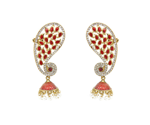Perfect look Red & White Earrings