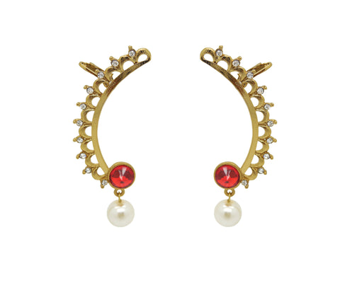 Traditional & Designer Collection In Artificial Jewellery of Earrings In Yellow & Red
