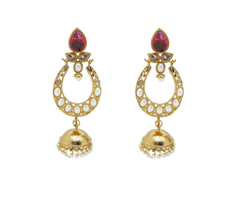 Creative Earrings For Women's In Yellow & Red Color
