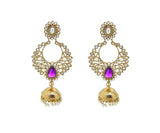 Perfect look Yellow & Fuchsia Earrings