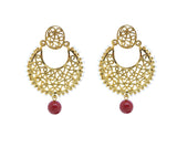 Perfect look Yellow & Maroon Earrings