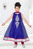 Girl's Incredible Violet color Art Silk Readymade Salwar Kameez in Embroidered with Mix Embroidery