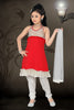 Girl's Incredible White color Art Silk Readymade Salwar Kameez in Embroidered with Mix Embroidery