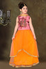 ArtSilk & Incredible Pink Color With Resham & Lace Work Readymade Lehenga Cholis