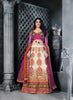 Women's Net Fabric & Off White Color Pretty A Line Lehenga Style With Resham Work Dupatta