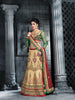 Women's Cream Color Pretty A Line Lehenga Style With Stones Work Dupatta