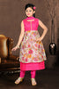 Girl's Incredible Pink Art Silk in Printed Readymade Salwar Kameez