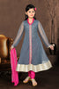 Girl's Incredible Pink Art Silk Readymade Salwar Kameez