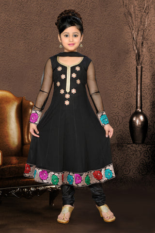 Girl's Incredible Lace & PatchWork work Embroidered Readymade Salwar Kameez