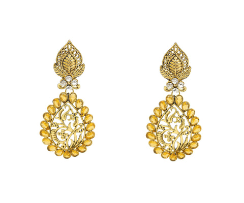 Beautiful Artificial Jewellery Earrings For Women's In Yellow Color