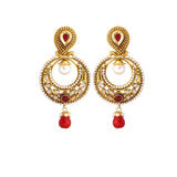 New Look Red, White & Gold Artificial Jewellery Earrings For Women's