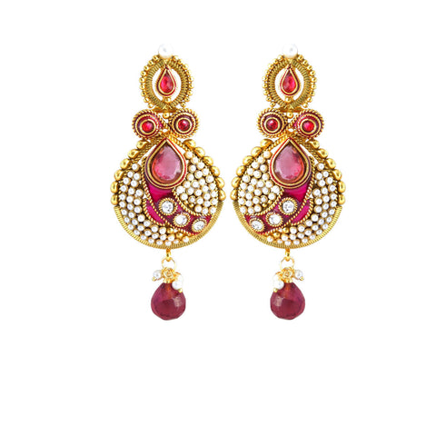 Fantastic & luxurious Collection In Artificial Jewellery of Earrings In Red & White