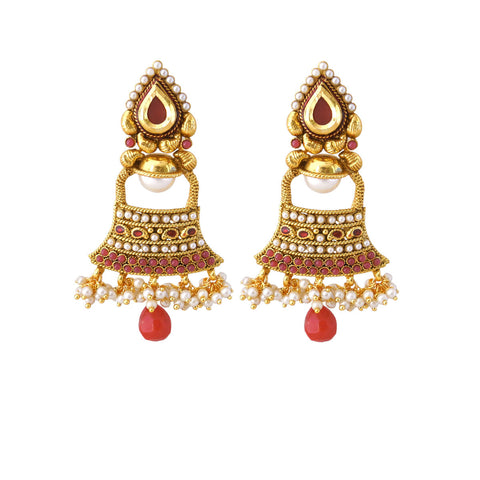 luxurious & Fantastic Collection In Artificial Jewellery of Earrings In Red & White