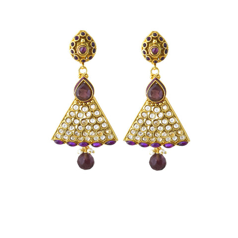 Perfect look White & Purple Earrings