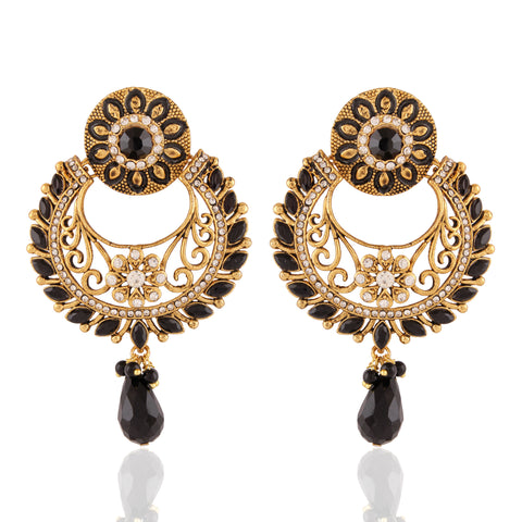 New Design Black & Off White Color Earrings For Women's