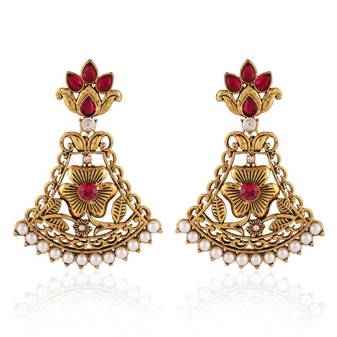 Fantastic & Traditional Collection In Artificial Jewellery of Earrings In Red & White