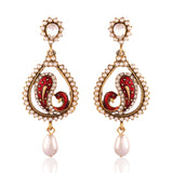 Traditional & Fantastic Collection In Artificial Jewellery of Earrings In Red & White