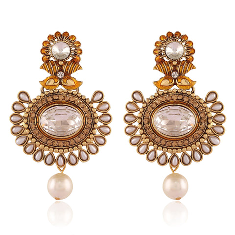 New Look White Artificial Jewellery Earrings For Women's