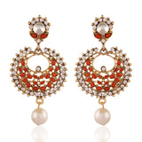 luxurious & Designer Collection In Artificial Jewellery of Earrings In Red & White