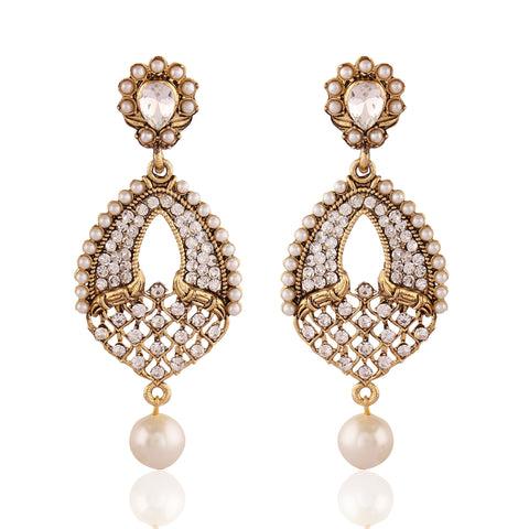 Traditional & luxurious Collection In Artificial Jewellery of Earrings In White