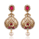 Designer & luxurious Collection In Artificial Jewellery of Earrings In Red & White