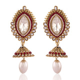 Creative Red & White Artificial Jewellery Earrings for Women's