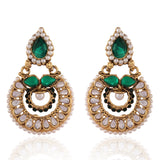 Designer & Traditional Collection In Artificial Jewellery of Earrings In Green & White
