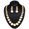 Appealing Off White Color Fashion Jewellery Necklaces