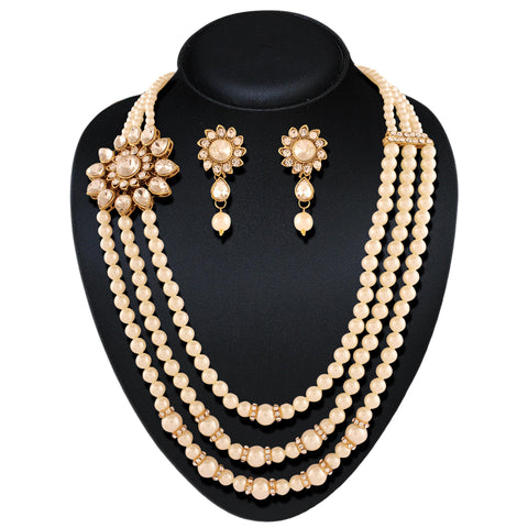 Amazing Off White Color Fashion Jewellery Necklaces