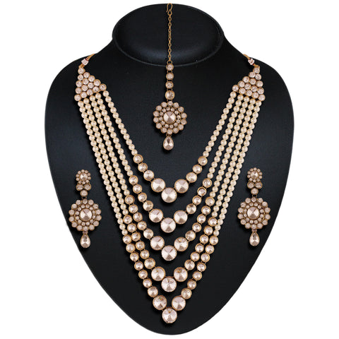 Beautiful Fashion Jewellery Necklaces For Women's In Off White Color
