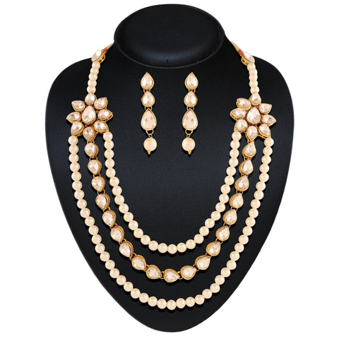 Wonderful Cream & Off White Color Necklaces