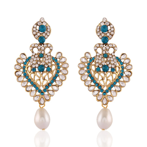 Perfect look Blue & White Fashion Jewellery Earrings