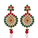 Perfect look Red, Green & White Fashion Jewellery Earrings