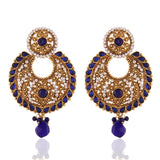New Look Blue & White Fashion Jewellery Earrings For Women's