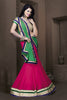 Women's Fuchsia Color & Georgette Fabric Pretty Unstitched Lehenga Choli