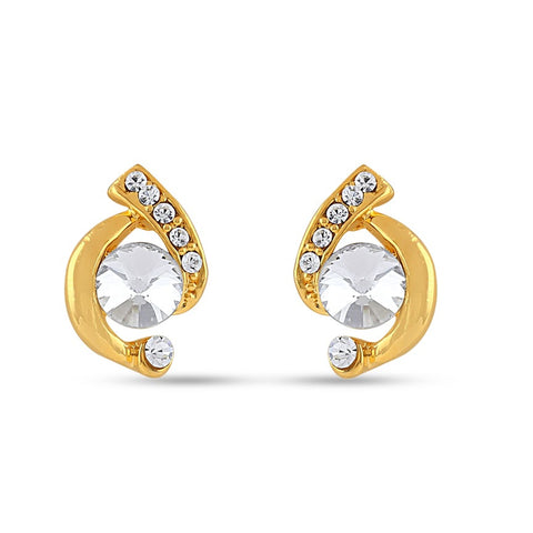 New Look White Precious Jewellery Earrings For Women's